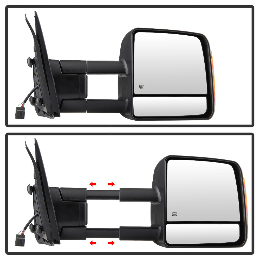 2017 Toyota Tundra LED Signal [Power + Heated] Towing Side Mirror ...