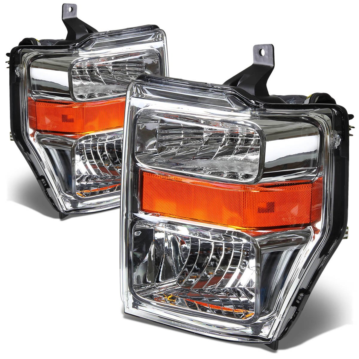 2008 2010 ford f250 f350 superduty crystal replacement headlights chrome
