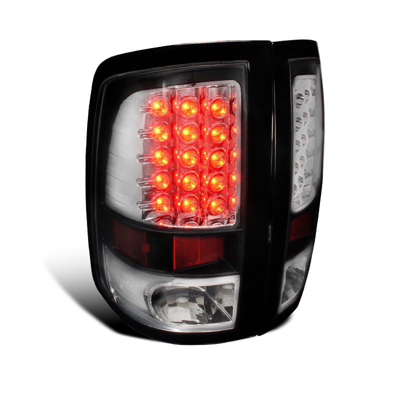 2009 2013 dodge ram 1500 2500 3500 led tail lights black 74 2009 2017 dodge ram truck [without factory led tail lights  at aneh.co