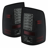 2009 2013 dodge ram euro style led tail lights black smoked alt yd dram09 led bsm by spyder 86 2009 2017 dodge ram truck [without factory led tail lights  at aneh.co