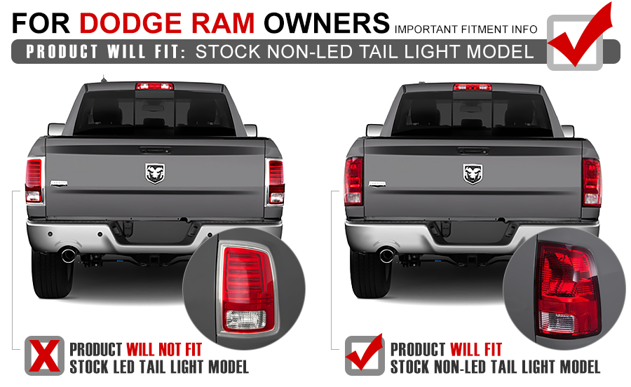 2009 2013 dodge ram euro style led tail lights red clear alt yd dram09 led rc by spyder 51 09 2017 dodge ram [non factory led model] performance led tail  at aneh.co