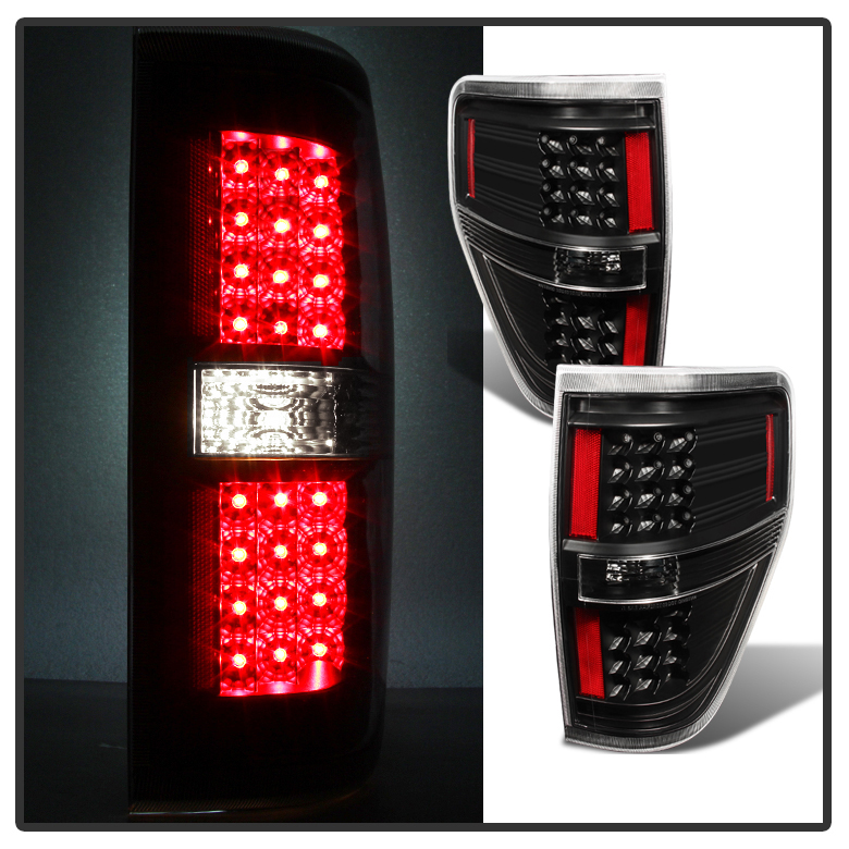 2009 2014 Ford F150 Performance Led Tail Lights Black