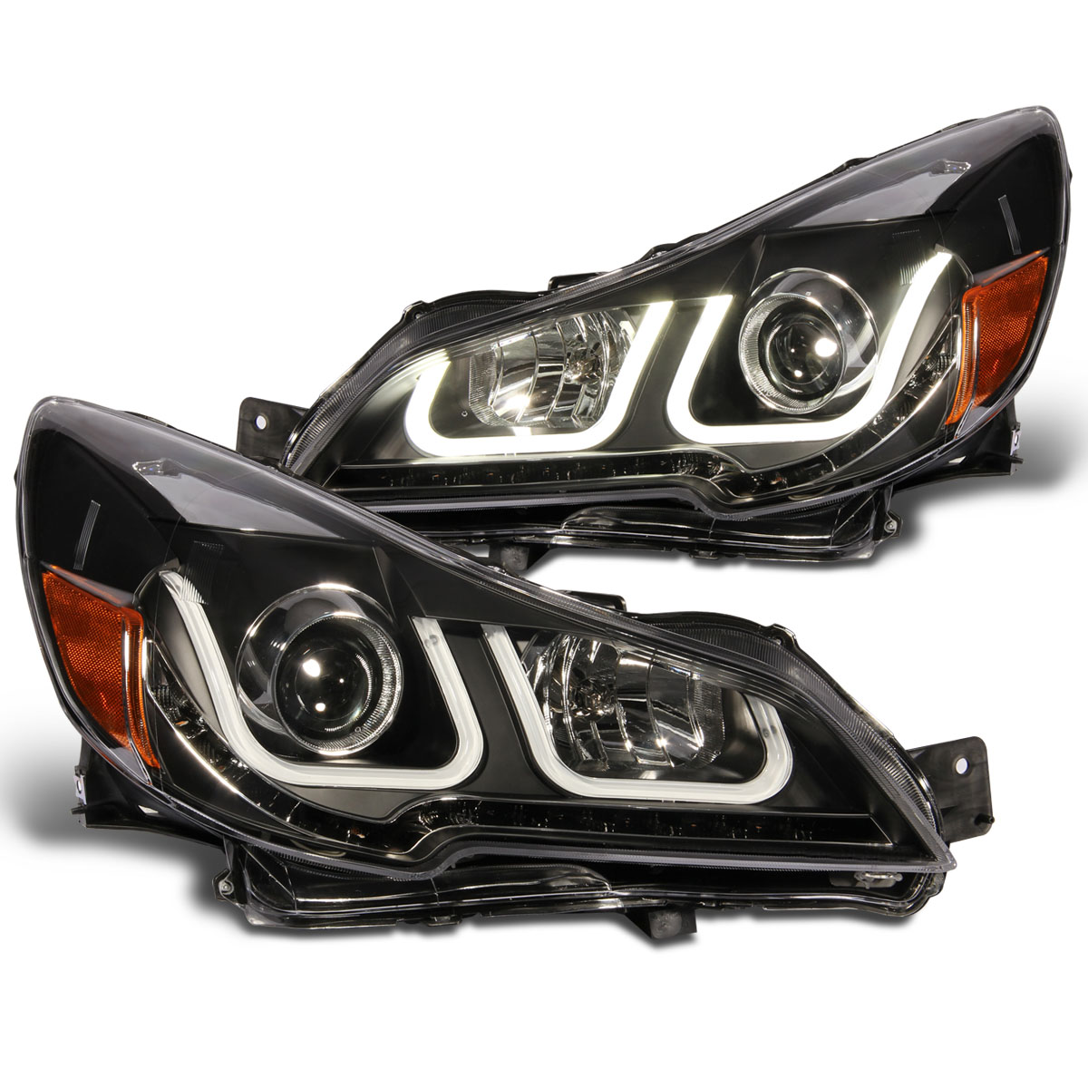 2010 2012 subaru outback led u style light bar projector 2010 2012 subaru outback led u style light bar projector headlights black vanachro Images