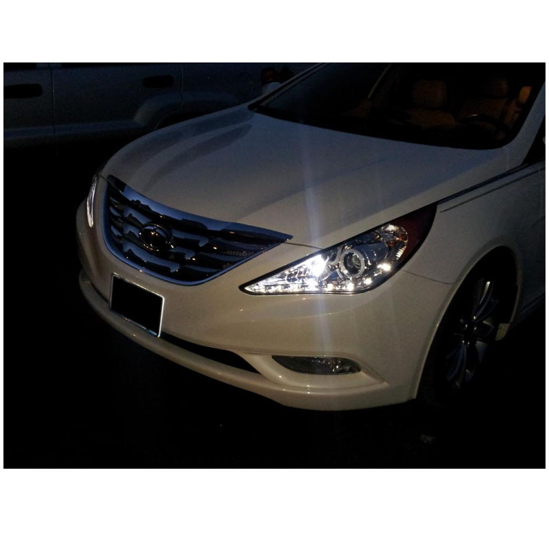 hyundai sonata 2013 black. 20112013 hyundai sonata drl led projector headlights black 2013 r