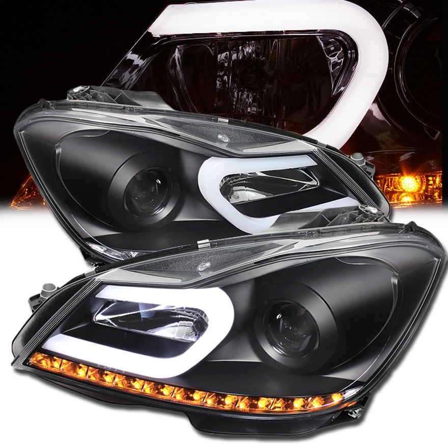 2012 2014 mercedes benz w204 c class led drl tube for Mercedes benz c300 headlights