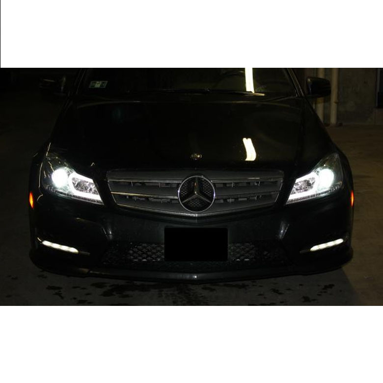 2012 2014 mercedes benz w204 c class led drl tube for Mercedes benz projector lights