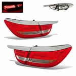 2012-2015 Buick Verano LED Tail Lights - Red Clear