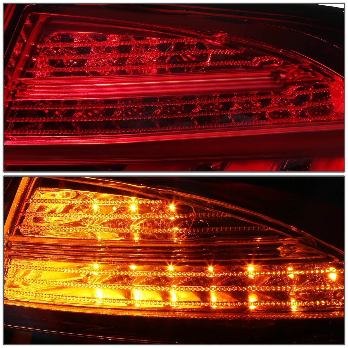 2013 15 bmw 3 series f30 f31 4dr pair of red clear lens 3d led bar brake signal tail lights