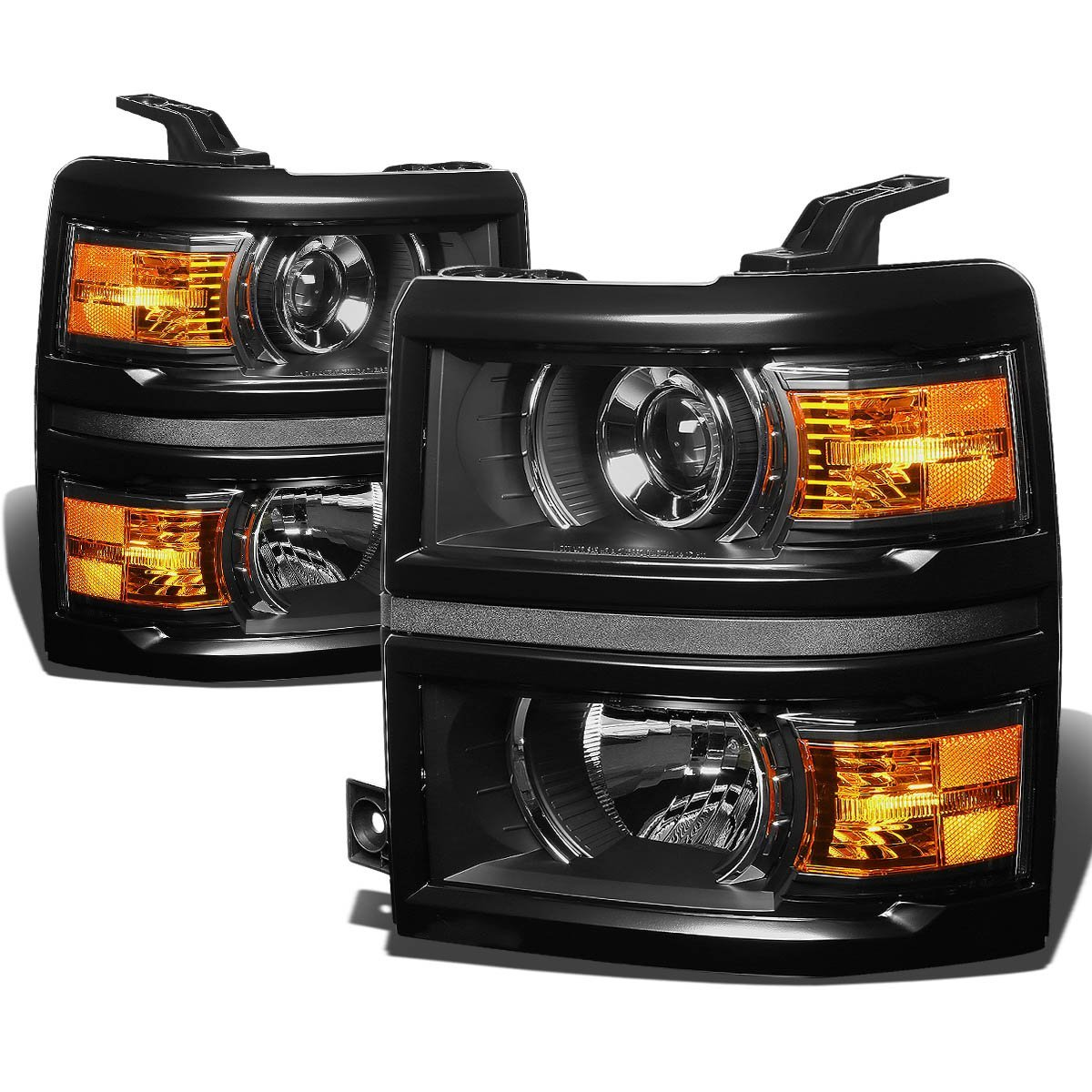2014 2016 chevy silverado 1500 2500 3500 hd projector headlights black 32 2014 15 chevy silverado 1500 projector headlights black  at soozxer.org