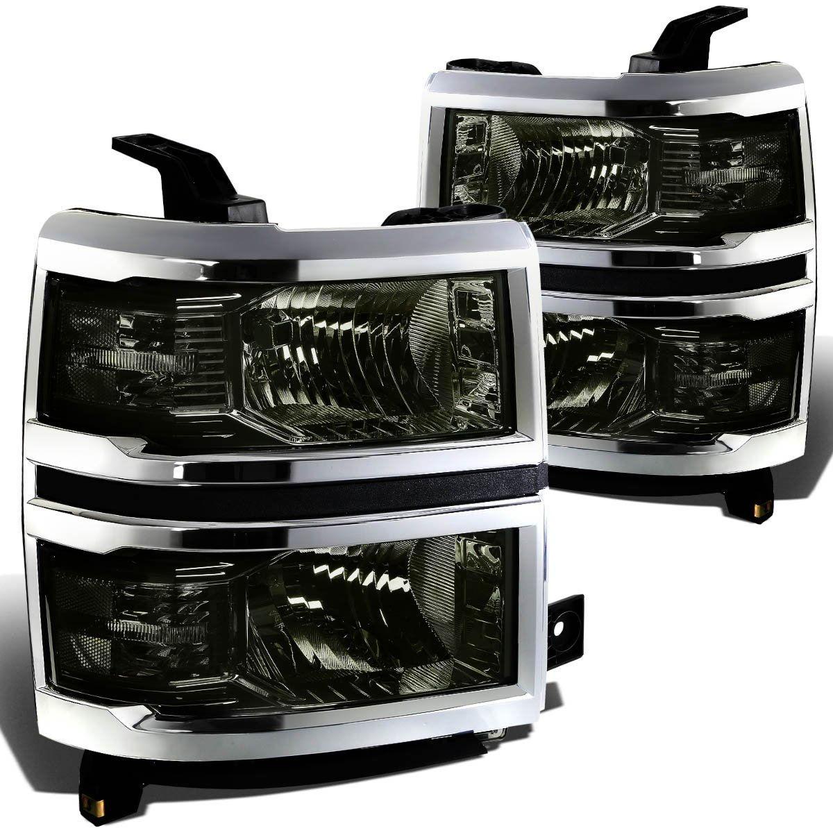 2014 15 Chevy Silverado 1500 Replacement Crystal Headlights Smoke 2015 Fog Lights Clear