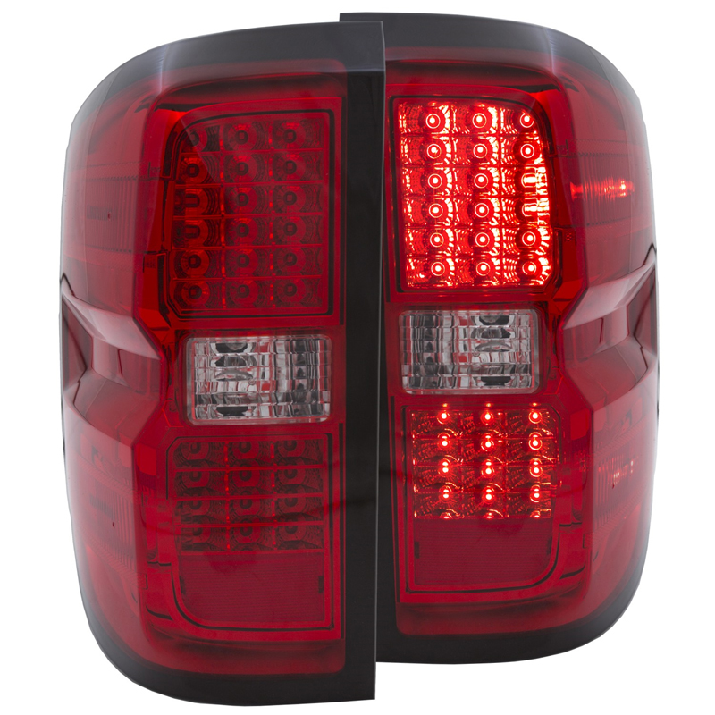 2014 Chevy Silverado 1500 New Body Style Led Performance Tail Lights Red Clear