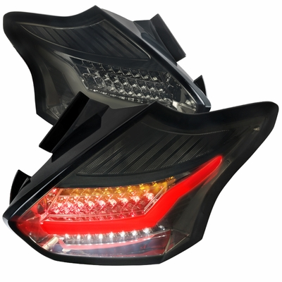 2015-2016 Ford Focus 5D Hatchback LED Tail Lights - Smoked