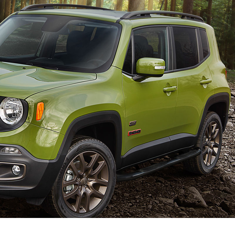 2015 2017 Jeep Renegade 3 Quot Black Stainless Steel Side Step