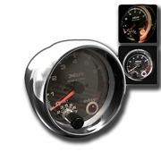 "3.75"" Real Carbon Fiber Face 0-8000 RPM Tachometer Gauge W/Shift-Light Built-In"