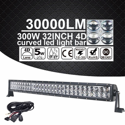 """32"""" inch 300W LED Curved Spot Flood Work Light Bar Offroad UTE 4WD 4X4 ATV Truck"""