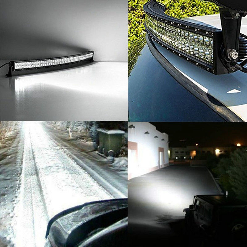 32 Quot Inch 300w Led Curved Spot Flood Work Light Bar Offroad