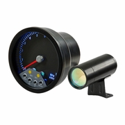 "4"" 7-Color LED Tachometer Gauge with Shift Light (Black Housing)"