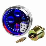 "4""DIGITAL TACHOMETER METER GAUGE+WATER TEMPERATURE/OIL PRESSURE/VOLT+SHIFT LIGHT"