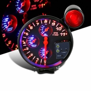 "5"" 4-In-1 Black LED 11K RPM Tachometer Oil Water Temp Pressure Gauge+Shift Light"