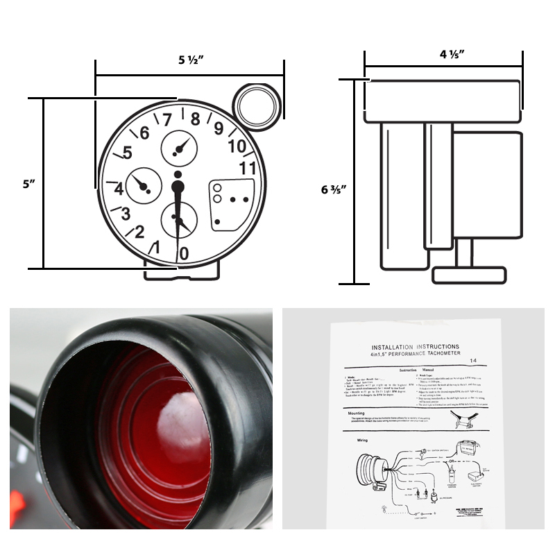 4 in 1 tachometer wiring diagram jdm 4 in 1 tachometer