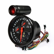 "5"" 4 IN 1 RPM TACHO TACHOMETER GAUGE WATER/OIL TEMPERATURE PRESSURE+SHIFT LIGHT"