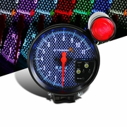 "5"" Black 7 Color LED Carbon Face Tachometer 11000 RPM Tacho Gauge+Shift Light"