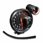 "5"" CARBON 11K RPM TACHO TACHOMETER GAUGE METER 7 COLOR DISPLAY+RED SHIFT LIGHT"