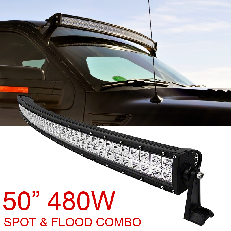 50 inch 480w spot flood combo cree curved led light bar offroad driving 4wd suv atv. Black Bedroom Furniture Sets. Home Design Ideas