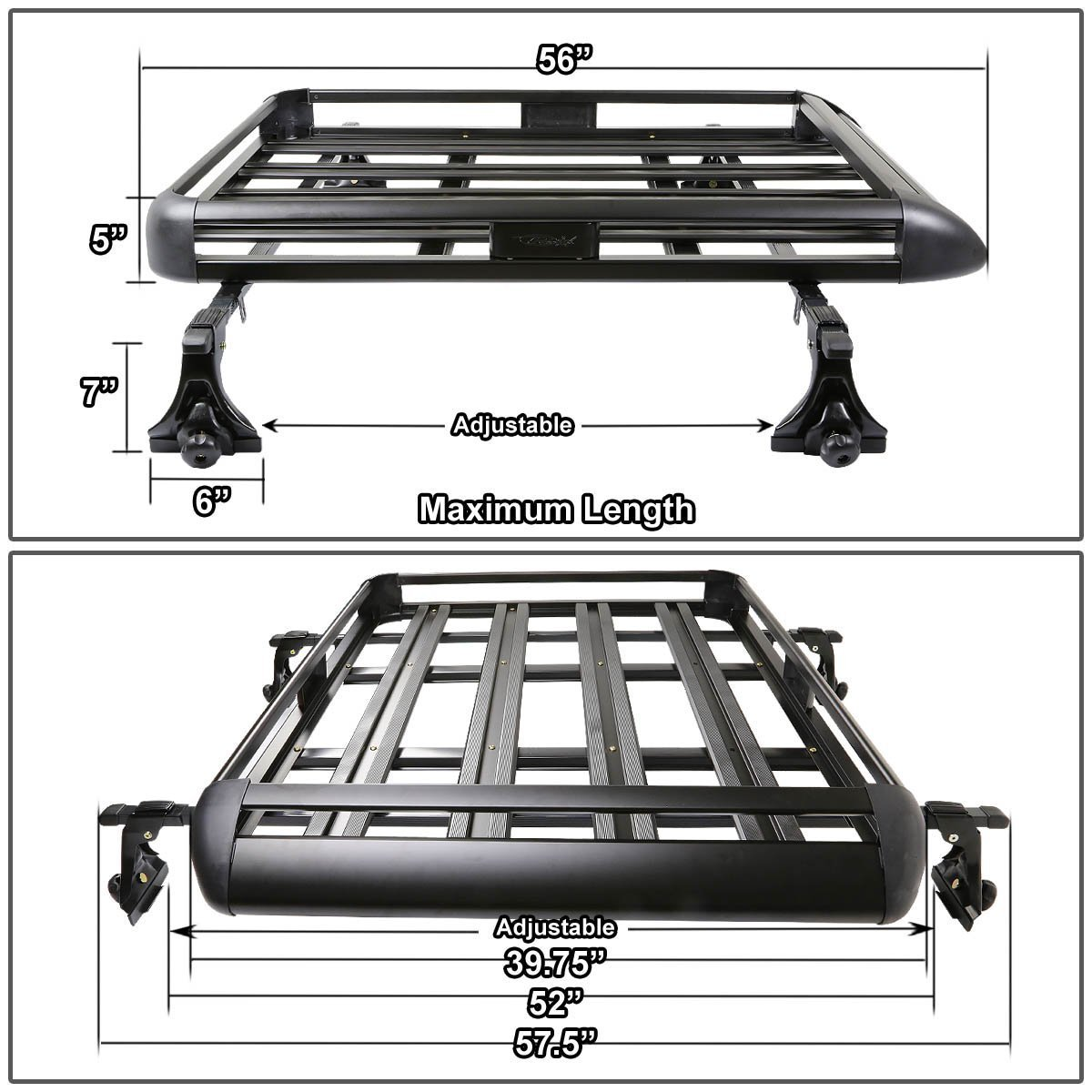 50 Quot X 38 Quot Aluminum Roof Rack Top Cargo Carrier Basket