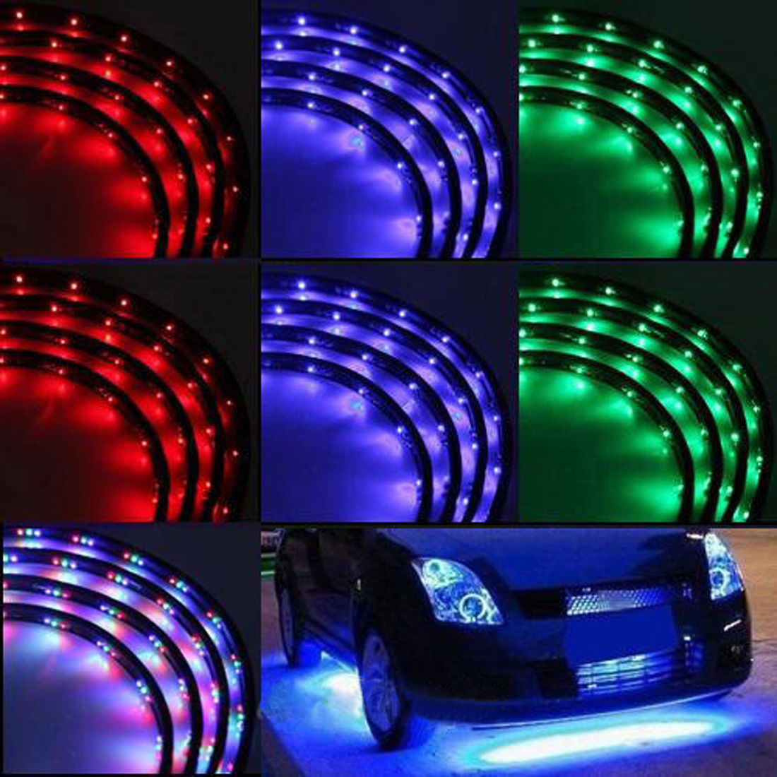 Car color kit - 7 Color Led Under Car Glow Underbody System Neon Lights Kit 48 X 2 36 X 2