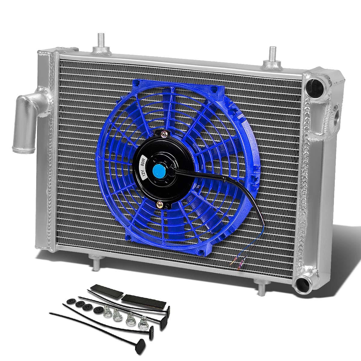 79 80 Triumph Spitfire 1500 Mt Aluminum Racing 3 Row Radiator 10 Main Body Wiring Harness Fan Blue Mounting Kit