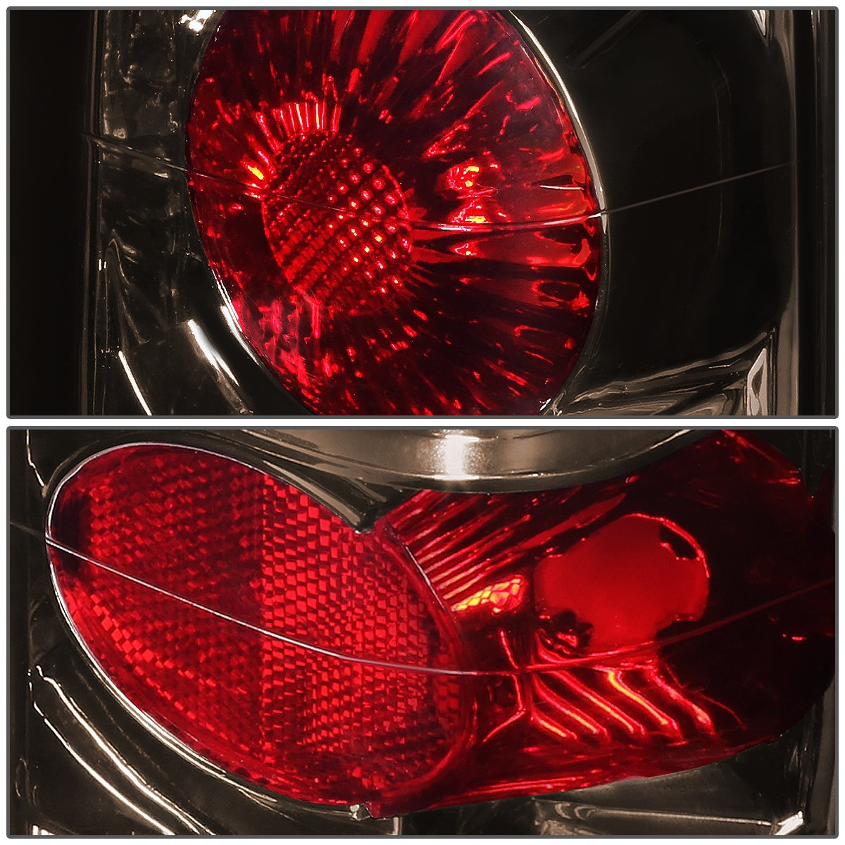 82  Gmc S15 Pair Of Smoked Housing Clear Lens Altezza Style Brake Tail Lights