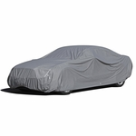 9-Layer All Weather Proof Breathable Lining Full Car Cover for Up to 13.5' Vehicles (Silver)
