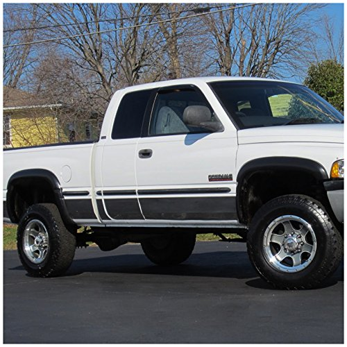 94 01 dodge ram 1500 94 02 2500 3500 long bed pocket rivet fender flares set. Black Bedroom Furniture Sets. Home Design Ideas