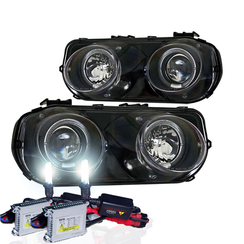 Acura Integra Headlights: 1994-1997 Acura Integra Dual Halo Projector Headlights