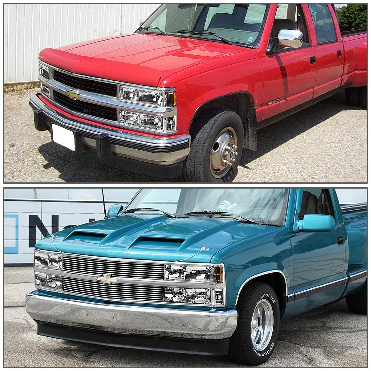 All Chevy 98 chevy bumper : 98 Chevy Full Size C10 C/K Pickup Headlights + Bumper + Corner ...