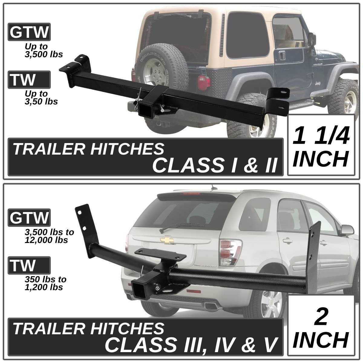 96 07 Dodge Caravan Chrysler Town Country Class Iii Trailer Hitch 1996 Jeep Grand Cherokee Tow Wiring Harness Receiver Rear Kit