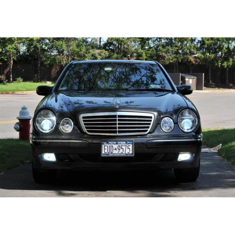 96 99 mercedes benz w210 e class dual halo projector for Mercedes benz projector lights