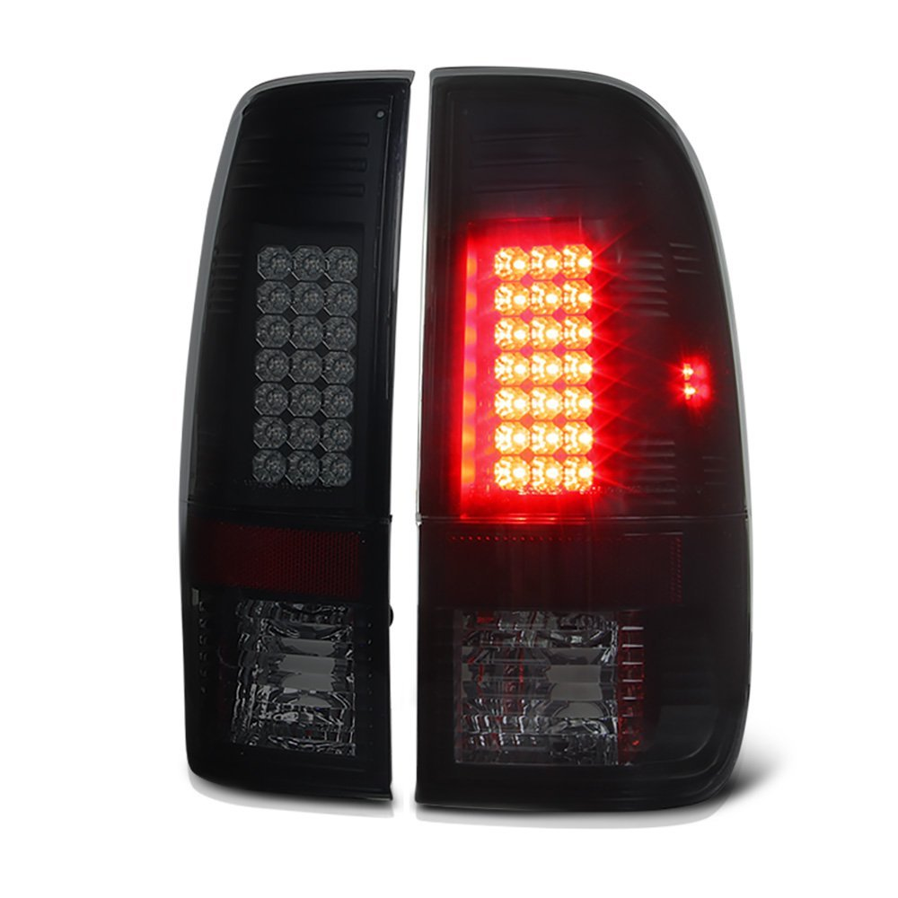 97-03 Ford F150    99-07 Superduty Led Tail Lights   Smoked