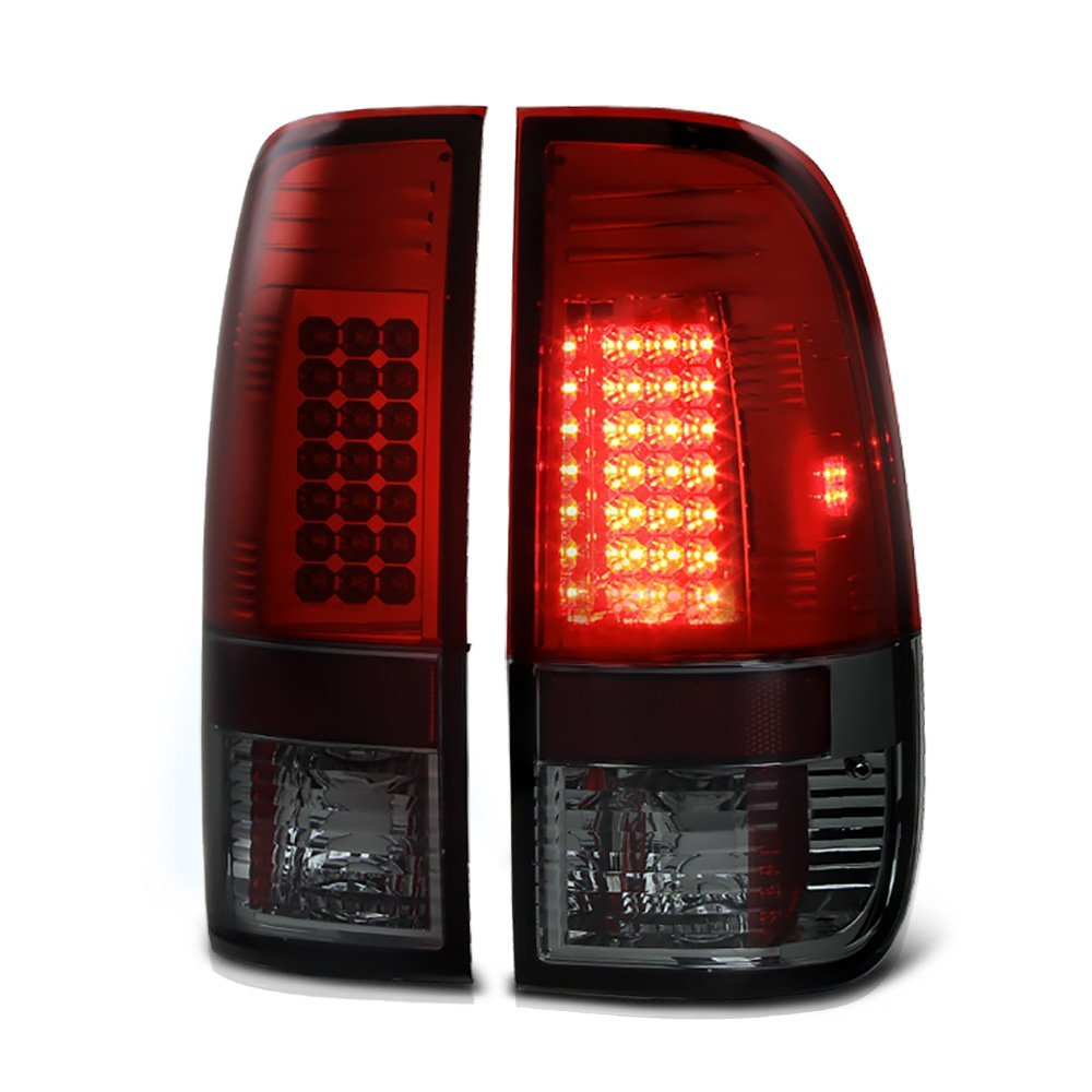 97-03 Ford F150    99-07 Superduty Led Tail Lights   Smoked 111