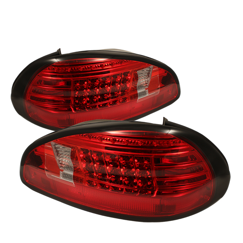 97 03 pontiac grand prix euro style led tail lights red clear 111 pgp97 led rc by spyder. Black Bedroom Furniture Sets. Home Design Ideas