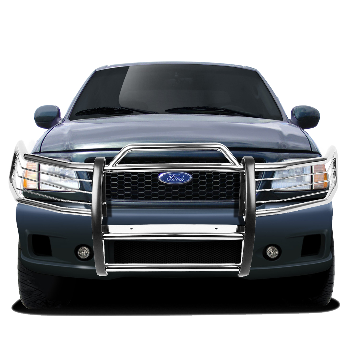 97 98 ford expedition f 150 4wd front bumper protector brush grille guard chrome