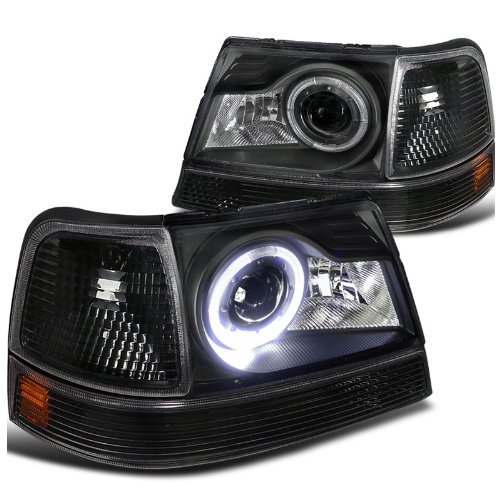 98 Ford Ranger Headlamp : Ford ranger pickup halo projector headlights