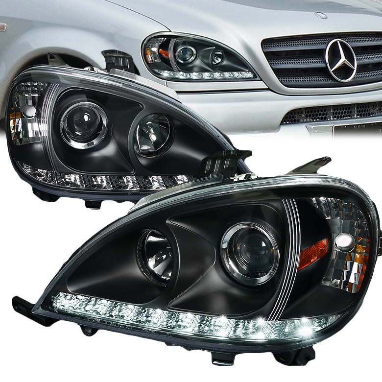 98 01 Mercedes Benz W163 Ml Class Smd Led Strip Projector
