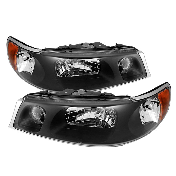 Car Headlights Replacement : Lincoln town car crystal replacement headlights black