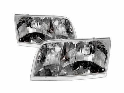 98-05 Ford Crown Victoria Euro Smoked Crystal Headlights