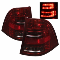 98-05 Mercedes Benz ML-Class W163 Euro Style LED Tail Lights - Red / Smoked ALT-YD-MBW16398-LED-RS By Spyder