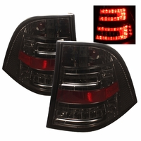 98-05 Mercedes Benz ML-Class W163 Euro Style LED Tail Lights - Smoked ALT-YD-MBW16398-LED-SM By Spyder