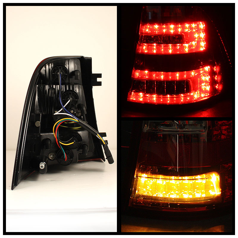 98 05 mercedes benz ml class w163 euro style led tail for Led light for mercedes benz