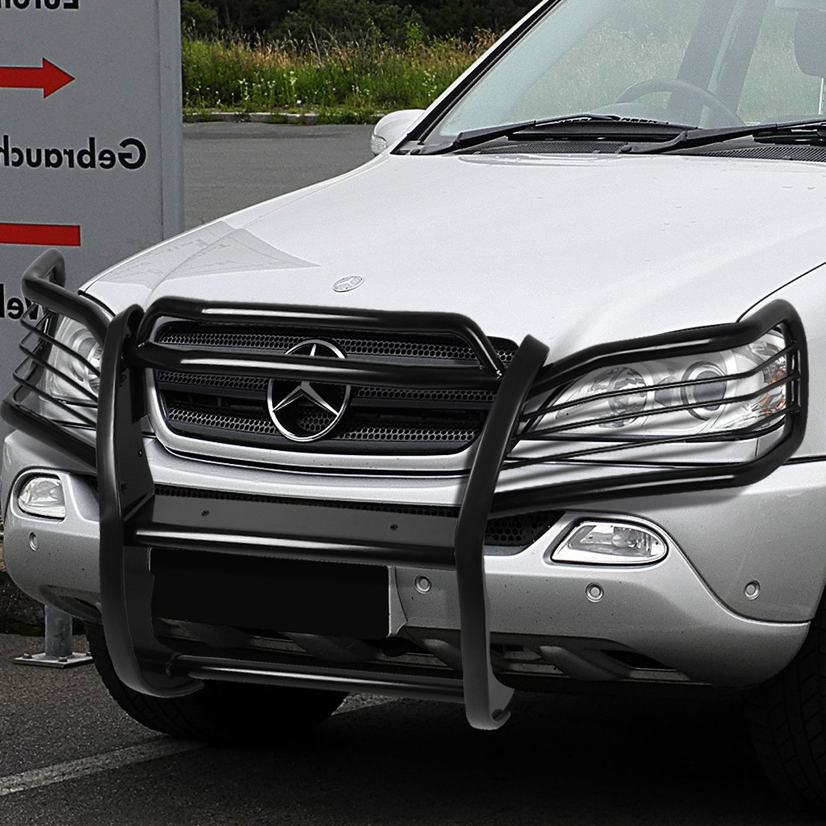 98 05 mercedes benz w163 m class front bumper protector for Mercedes benz s guard for sale